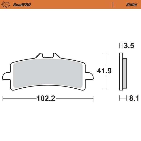 407001 Moto Master - Moto Master - Brake Pad RoadPRO Sinter - Front