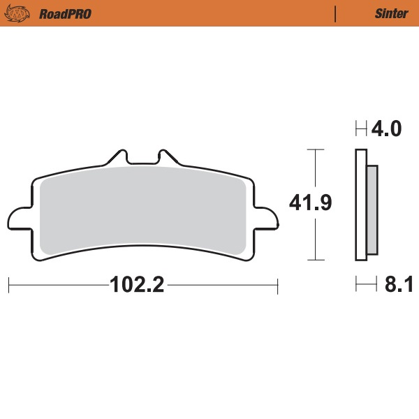 408101 Moto Master - Front Brake Pad RoadPRO Sinter