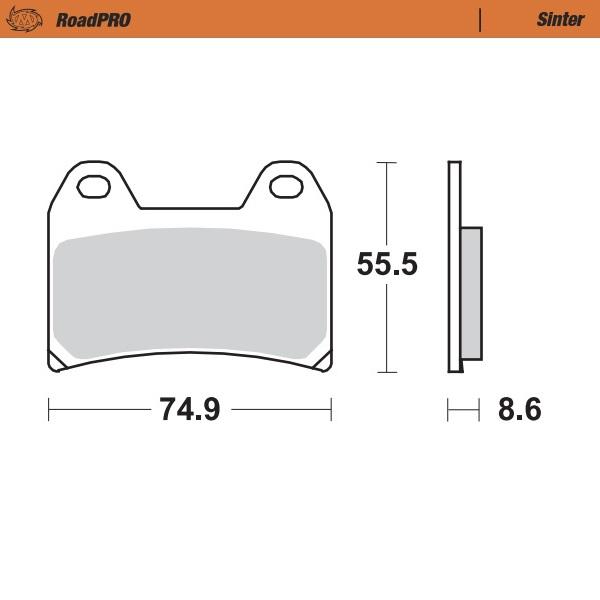 404301 Moto Master - Rear Brake pad RoadPRO Sinter FRONT