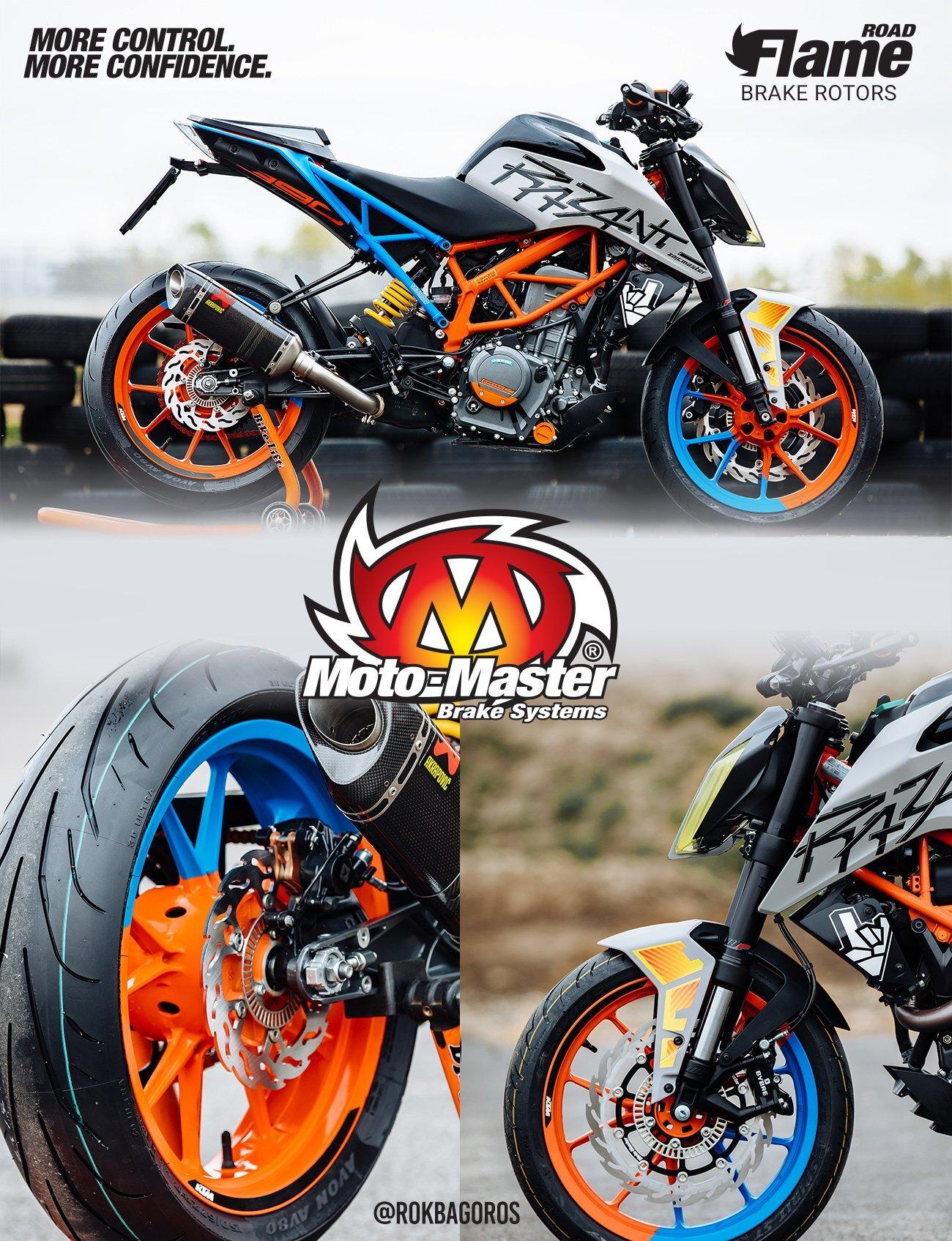 112297 Moto Master - FRONT FLAME FLOATING ALU DISC 320 mm