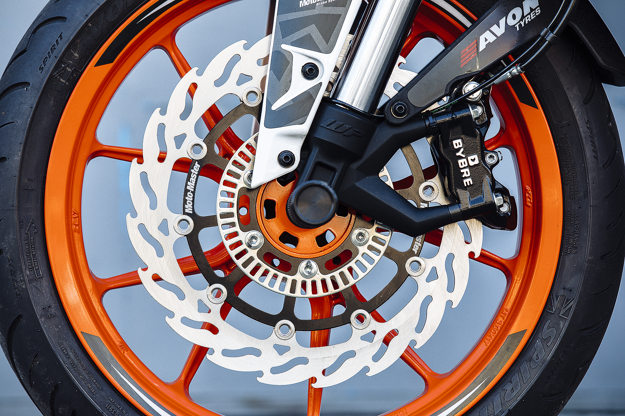 112219 Moto Master - Front Flame Floating Alu Disc 300 mm ABS