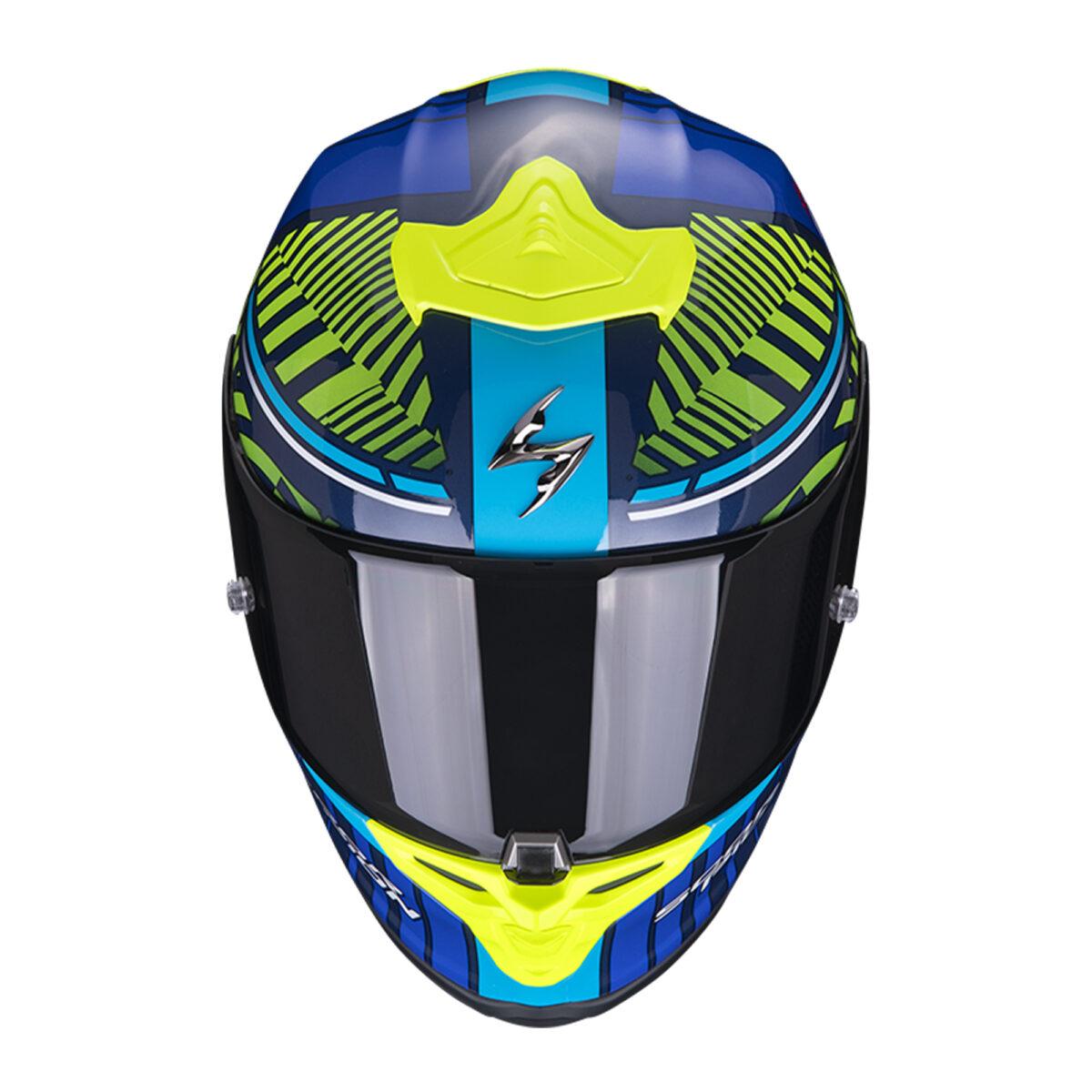 scorpion EXO R1A VICTORY Blu Neo Yellow getstung