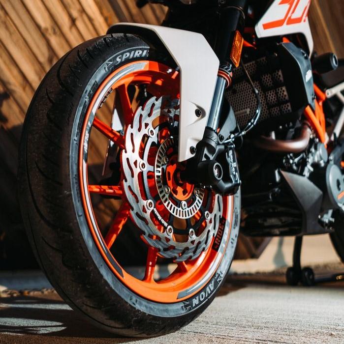 Front spindle bobbins KTM 125 - 390 duke