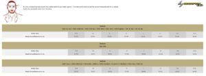 Scorpion Exo size chart bagoros performance